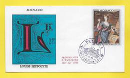 MONACO - Enveloppe Premier Jour - First Day Cover - 25. 11 1969 LOUISE HIPPOLITE - FDC