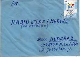 Bosnia And Herzegovina 1998 Letter Via Yugoslavia. Zenica P.c.72105. Nice Stamp - Olympic Games Nagano - Bosnie-Herzegovine
