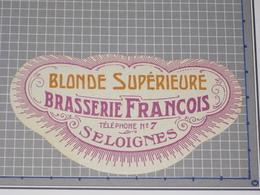 Oud Bier Etiket BLONDE SUPÉRIEURE Brouwerij Brasserie FRANCOIS Seloignes - Beer