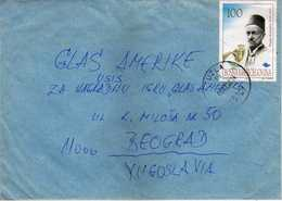 Bosnia And Herzegovina 1998 Letter Via Yugoslavia. Tuzla P.c.75101. Nice Stamp - Bosnie-Herzegovine