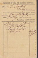 Switzerland Postal Stationery Ganzsache PRIVATE Print GESELLSCHAFT Der LUD. Von ROLL'SCHEN EISENWERKE, CLUS 1894 - Entiers Postaux