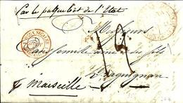 Cachet D'entrée Des DEUX SICILES Par SERVICE VAP.FRANC.de La MEDITE.NAPLES - 1843 - - 1801-1848: Précurseurs XIX