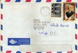 Bosnia And Herzegovina 1997 Letter Via U.S. Sarajevo. Nice Stamps Olympic Games - Bosnie-Herzegovine