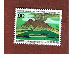 GIAPPONE  (JAPAN) - SG 1951   -   1988  CONFERENCE ON  VOLCANOES: MT. SAKURA    - USED° - 1926-89 Empereur Hirohito (Ere Showa)