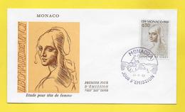 MONACO - Enveloppe Premier Jour - First Day Cover - 25. 11 1969 LEONARD DE VINCI - FDC