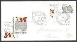 Pays-Bas 1975 1028-29 FDC Handicaps Aveugle Ligue Braille - Épargne Monnaies - FDC