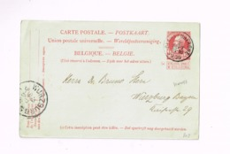 """Entier Postal à 10 Centimes.Expédié De Blankenberghe à Würzburg (Bavière).""""1830-1905"""" - Entiers Postaux"""