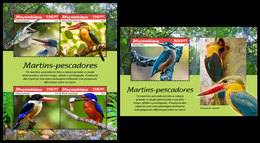 MOZAMBIQUE 2019 - Kingfishers. M/S + S/S. Official Issue - Oiseaux