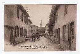 - CPA SAINT-PIERRE-DE-CHANDIEU (38) - Rue De La Poste 1919 - Edition Brunet N° 2 - - France