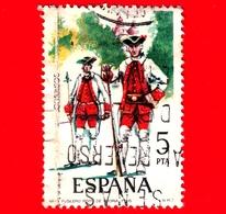 SPAGNA - Usato - 1975 - Uniformi Militari - Fuciliere, Reggimento Di Vitoria, 1766 - 5 - 1931-Oggi: 2. Rep. - ... Juan Carlos I