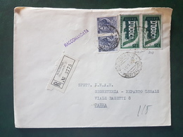 (18580) STORIA POSTALE ITALIA 1957 - 1946-60: Storia Postale