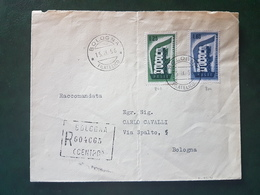 (18581) STORIA POSTALE ITALIA 1956 - 1946-60: Storia Postale