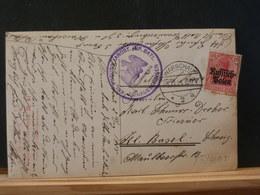 83/406  CP  OBL. WARCHAU 1915 POUR LA SUISSE + CACHET MILITAIRE - Occupation 1914-18