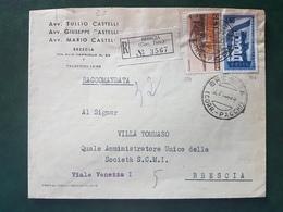 (18582) STORIA POSTALE ITALIA 1956 - 1946-60: Storia Postale