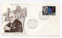 Italia - 1967 - Centenario Della Nascita Di Luigi Pirandello - Con Doppio Annullo Filatelico - (FDC14310) - 6. 1946-.. Repubblica