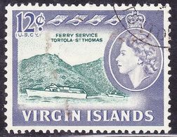 BRITISH VIRGIN ISLANDS 1964 QEII 12c SG186 FU - British Virgin Islands