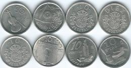 Spain - Juan Carlos - 10 Pesetas - 1983, 1992, 1993, 1994, 1995, 1996, 1997 & 1998 - [ 5] 1949-… : Royaume