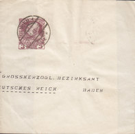 Austria Postal Stationery Ganzsache Entier Streifband Wrapper Bande Journal 3 H Franz Joseph WIEN 1913 BADEN - Ganzsachen