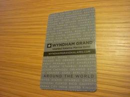 Turkey Istanbul Kalamis Marina Wyndham Grand Hotel Room Key Card - Cartes D'hotel