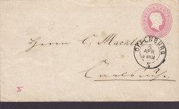 Baden Postal Stationery Ganzsache Entier Umschlag 3 Kr. Grosshrzog Friedrich OFFENBERG 186? KARLSRUHE - Ganzsachen
