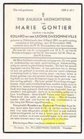 DP Dienstmeid Pastoor - Marie Gontier / Dassonville ° Dikkebus 1881 † Elverdinge 1945 / Ieper - Images Religieuses