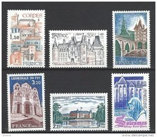 """FR YT 2081 à 2084 2111 2112 """" Touristique """" 1980 Neuf** - France"""
