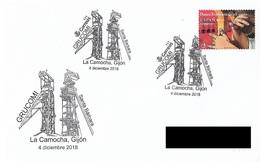 SPAIN. POSTMARK MINING. SANTA BARBARA. LA CAMOCHA, GIJON 2018 - Marcophilie - EMA (Empreintes Machines)