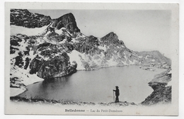 BELLEDONNE - LAC DU PETIT DOMENON AVEC PERSONNAGE - CPA PRECURSEUR NON VOYAGEE - France