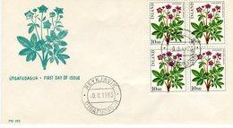 Iceland/Islande/Ijsland/Island FDC 10.II.1983 Flowers Year Block Of 4 Matching Cover FM-292 - FDC