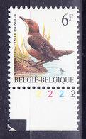 BELGIQUE BUZIN COB 2459 ** MNH, NUMERO DE PLANCHE 2, FLUO. (3J126) - 1985-.. Oiseaux (Buzin)