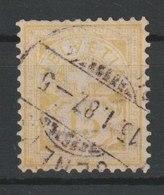 MiNr. 57  Schweiz 1882, 1. April/1894. Freimarken: Kreuz über Wertschild. Bdr. (1010); Faserpapier - Gebraucht