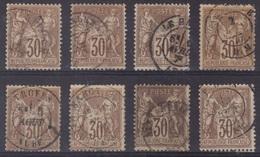 Sage N°69, 8 Exemplaires Oblitérés, Scans Recto-verso. - 1876-1878 Sage (Type I)