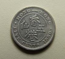Hong Kong 5 Cents 1900 Silver - Hong Kong