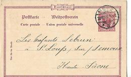 Carte Commerciale 1898  Allemagne / METZ / P. MAAS / Commande De Chaises à LEBRUN 70 ST LOUP - Allemagne