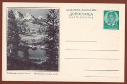 YUGOSLAVIA-SLOVENIA, TRIGLAV LAKE, 4th EDITION ILLUSTRATED POSTAL CARD - Entiers Postaux