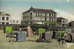 """Cpsm Petit Format SOULAC SUR MER  """"Cote D' Argent"""" La Plage Le Ponton Et Les Hotels Colorisée  RV - Soulac-sur-Mer"""
