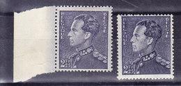 Belgique, COB 529 Et 529a, **  MNH Poortman,  (7B231) - 1936-51 Poortman