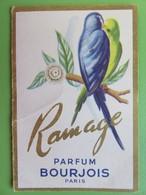 Carte Parfumée - Petit Calendrier 1961 - Parfum Ramage - Bourjois - Maison Vidal - 39 Rue Droite - Millau (Aveyron) - Tamaño Pequeño : 1961-70