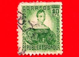 SPAGNA - Usato - 1935 - Mariana De Pineda Y Muñoz, (1804–1831), Eroina - 10 - 1931-Aujourd'hui: II. République - ....Juan Carlos I