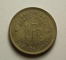 Belgian Congo 1 Franc 1944 - Congo (Belge) & Ruanda-Urundi