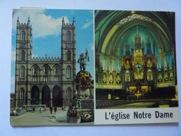 """Cartolina """"MONTREAL L'Eglise Notre Dome"""" 1979 - Montreal"""