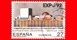 SPAGNA - Usato - 1992 - Esposizione Mondiale  - Sevilla 1992 - Padiglione Spagnolo - 27 - 1931-Oggi: 2. Rep. - ... Juan Carlos I