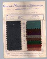 Paris AU PRINTEMPS Feuille D'échantillons De Tissus (comptoir Des Lainages Unis) (PPP17449) - Advertising