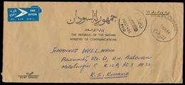 SUDAN. 1968. Khartoum - Romania. Official Mail / Prepaid Airmail Env With Arrival (7 Nov 68). Pmk Postage / PAID. - Sudan (1954-...)