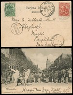 URUGUAY. 1903. Montevideo - Wanganui / New Zealand. Fkd PPC Dest. - Uruguay