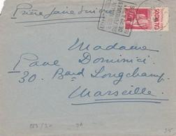 N°283 Type II Pub Calvados Père Magloire S / Env T.P. Ob Daguin Aix Les Thermes 1934 - Marcophilie (Lettres)
