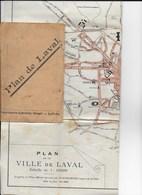 Plan De La Ville De LAVAL - 53 - De 1943 - Dépliants Touristiques