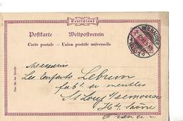 Carte Commerciale / Entier 1898  Allemagne / MULHOUSE / MULHAUSEN Commande à LEBRUN 70 ST LOUP - Allemagne