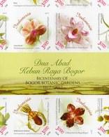 INDONESIA STAMP 2017, FULL SHEET IMPERF ORCHID FLOWERS MS SHEETLET STAMPS, BICENTENARY OF BOGOR BOTANIC GARDEN, RARE - Indonésie