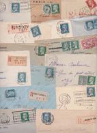 Type Louis Pasteur - Lot De 114 Enveloppes Et Cartes Postales Timbrées - Lettres - Timbres - Timbre - 1922-26 Pasteur